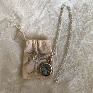 Origami Owl Large Living Locket Necklace w/ Charms